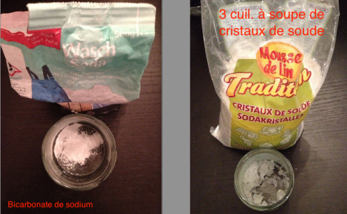 soda + cristaux soude